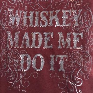 """""""Whiskey Made Me Do It"""" tank top"""